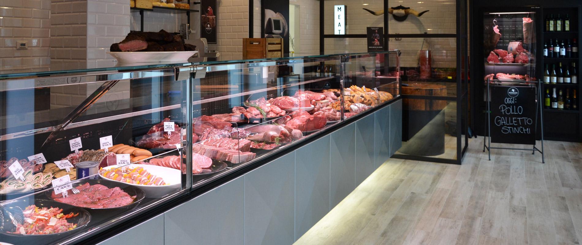 Le comptoir pour viande