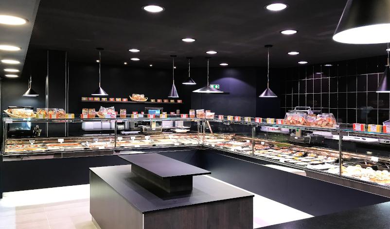 Frigovetrina di design per arredamento gastronomia
